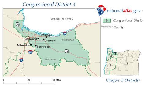 oregon congressional district map oregon 3rd congressional district representative in us