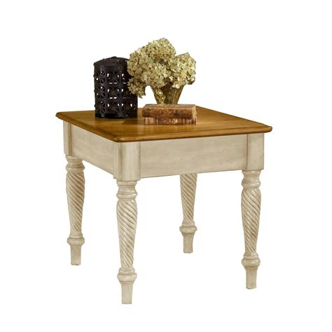 white end tables hillsdale furniture wilshire antique white end table 4508