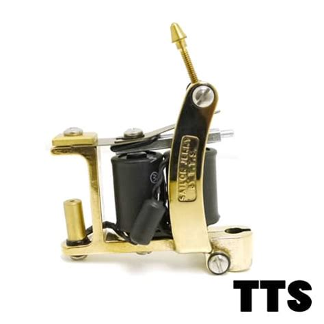 tattoo machine setup tts machine bulldog in brass