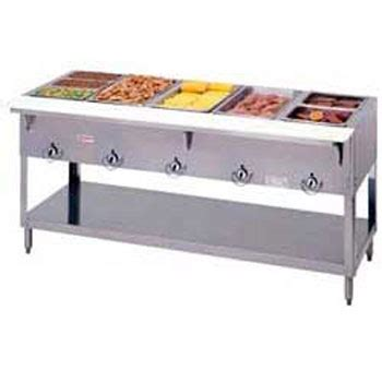 Kitchen Steam Table Aerohot Duke E305 Electric Food Table Stationary 5 72 3 8 Quot W Central Restaurant