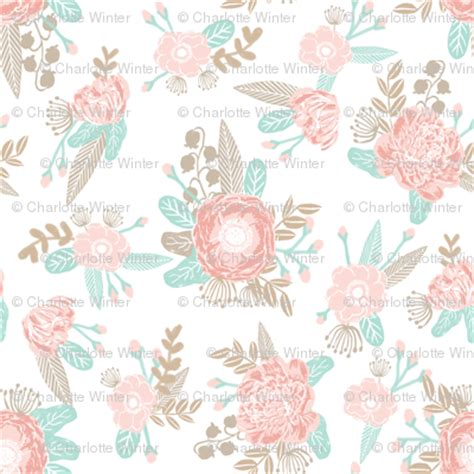 soft baroque pattern pink juliesfabrics spoonflower soft neutral pink and taupe florals fabric fabric