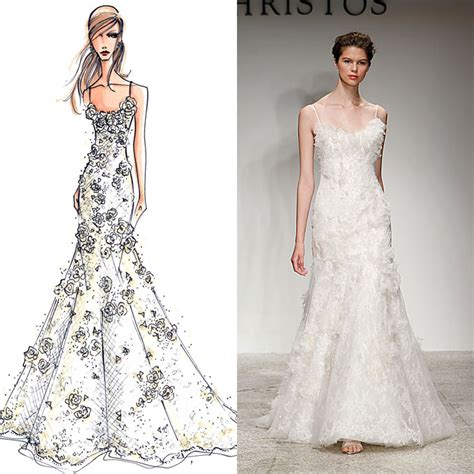 wedding dress layout designer wedding gowns from sketch to dress brides com