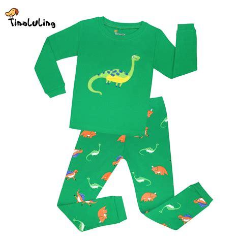 dinosaur pajamas for aliexpress buy tinoluling animal sleepwear children