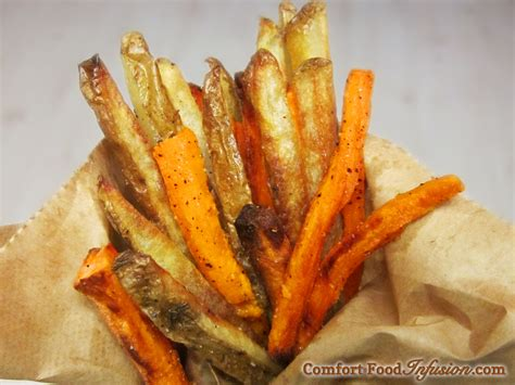 sweet and russet oven fries comfort food infusion