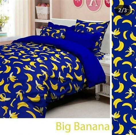 Sprei Bahan Katun Grow Uk 180 200 20 20 detail product sprei dan bedcover big banana dongker