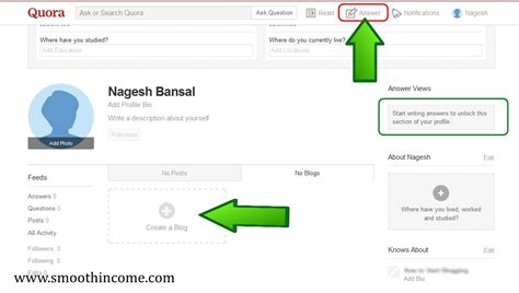 blogger quora how to create a blog on quora start free site