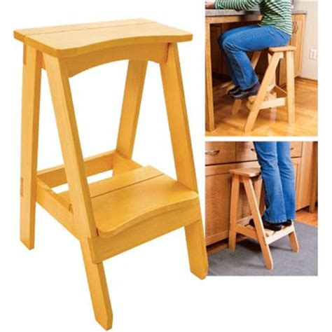 Kitchen Step Stool With Seat by Kitchen Step Stool With 1 More Step Placed In The Middle