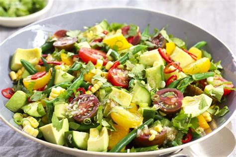 vegetables types of salaad fresh summer vegetable salad