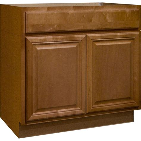 Kitchen Cabinet Bases Hton Bay Cambria Assembled 36x34 5x24 In Accessible Sink Base Kitchen Cabinet In Harvest