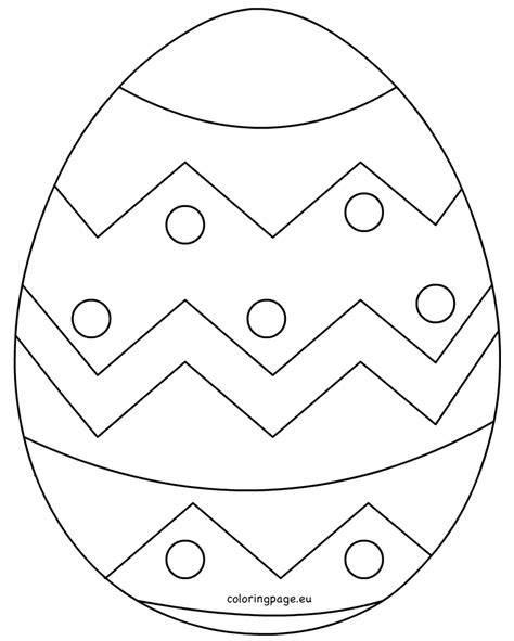 easter egg template large easter egg patterns coloring page