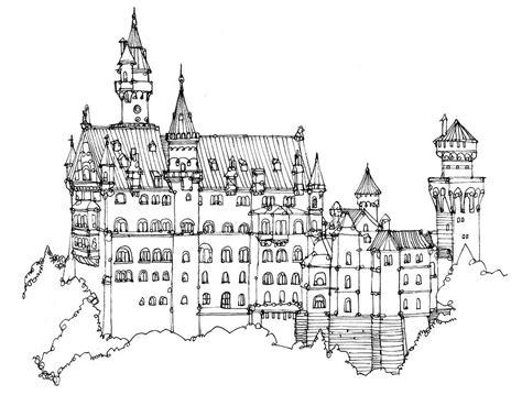 german castle coloring page pin von tolabi cbell auf landscapes designs pinterest