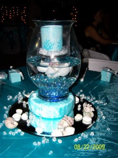 pin photo gallery unique blue table centerpiece on pinterest