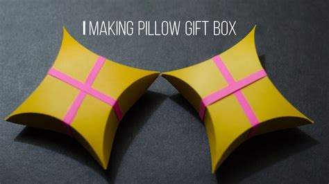 Gift Card Pillow Box Tutorial - how to make a pillow gift box easy craft diy tutorial my crafts and diy projects
