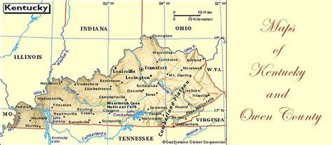 kentucky genweb map maps of owen county and kentucky