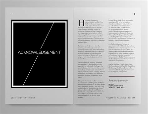 layout of internship report leo burnett kl internship report design on adweek talent