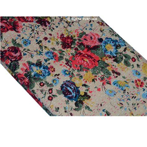Floral Print Blanket size floral print kantha quilt blanket