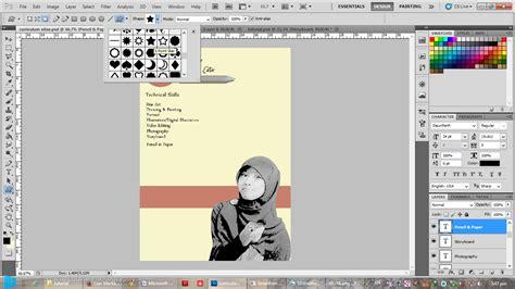 membuat cv dengan aplikasi tutorial membuat curriculum vitae menggunakan adobe photoshop