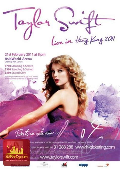 taylor swift tour age limit taylor swift live in hk 2011 asiaworld expo hong kong