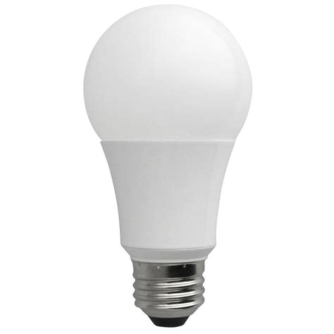 Soft White Led Light Bulbs Tcp 60w Equivalent Soft White A19 Non Dimmable Led Light Bulb Rla1027nd The Home Depot