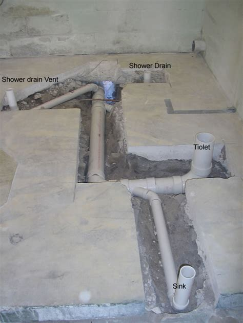 plumbing cleanouts and concrete pvc