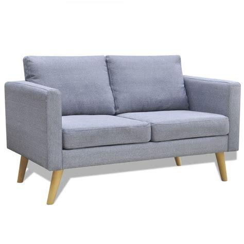 2 Seater Grey Sofa by Light Grey 2 Seater Fabric Sofa Www Vidaxl Au