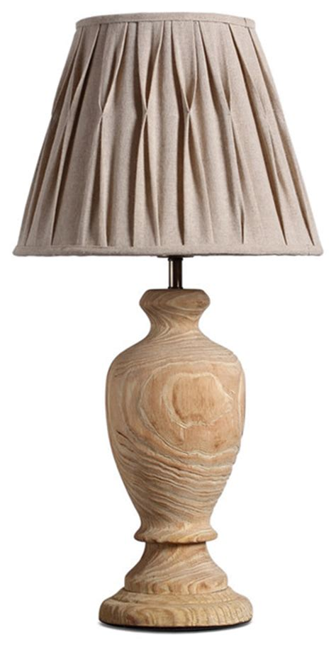 Handmade Lshades Traditional - rustic wooden urn pleated fabric shade handmade table l