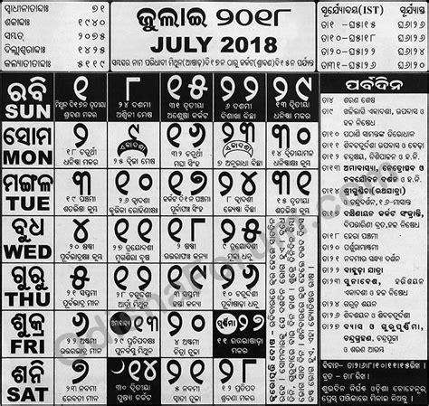 odia calendar  july odisha forum