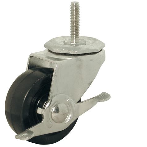 shepherd 9496 3 in rubber wheel threaded stem brake