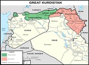 map of iraqi kurdistan inside syria media center breaking state of great