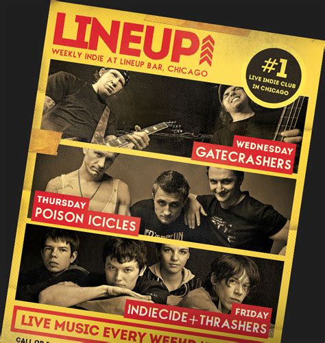 indie rock band flyer templates for photoshop flyerheroes