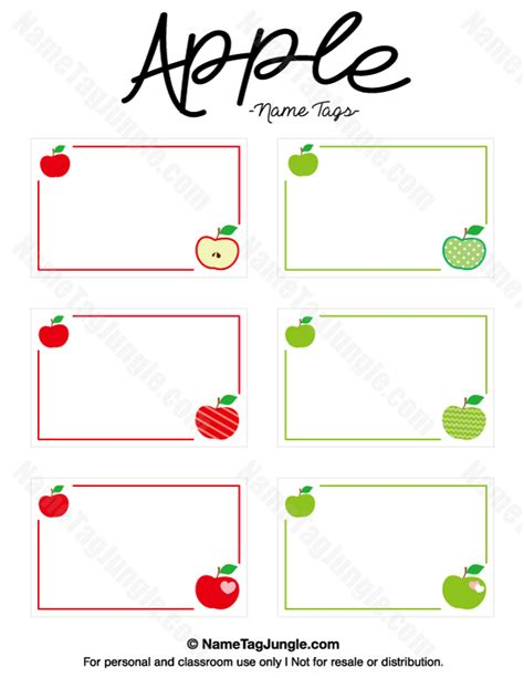printable apple name tags free printable apple name tags the template can also be