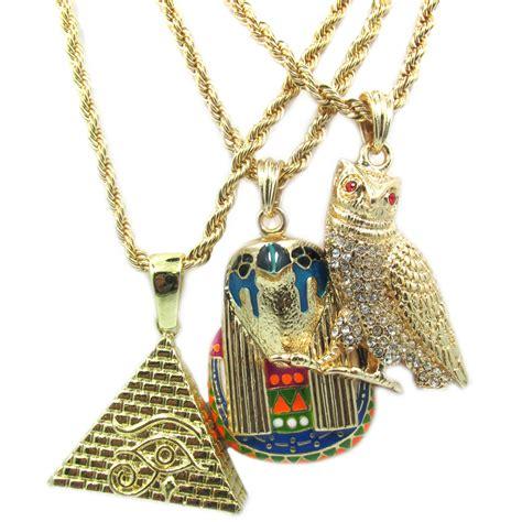3d pyramid ovo owl horus 14k gold overlay charm