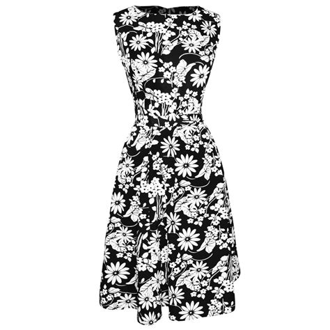 pattern dress black and white vintage inspired pattern a line shift dress with fabric