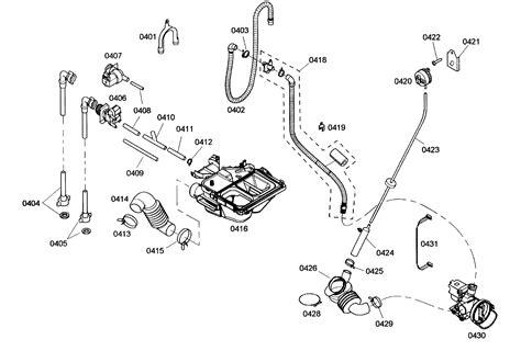 bosch washing machine parts diagram dispenser assy assy diagram parts list for model