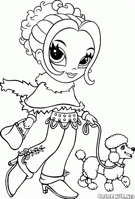 Boyama Sayfası Kız Dinlenme Girly Coloring Pages Printable Free Printable