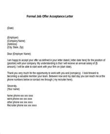 Formal Acceptance Letter For Employment 56 Acceptance Letters