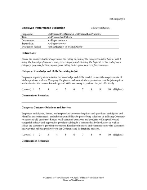 Evaluation Letter Template 10 Best Images Of Sle Employee Performance Evaluation