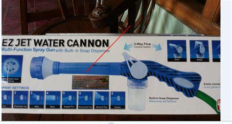 Ez Jet Water Canon Free Wrap Packing grosir ez jet water cannon garansi 100 ganti baru