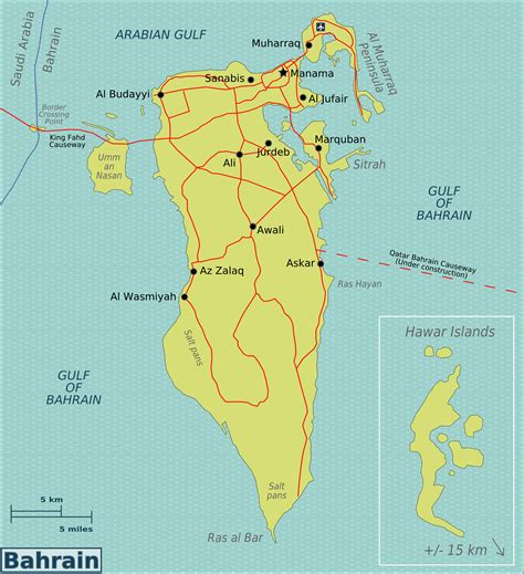 bahrain map with cities maps of bahrain detailed map of bahrain in