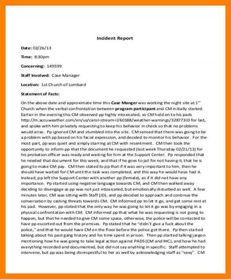 Simple Incident Report