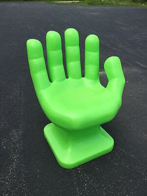 giant neonlime green hand shaped chair  adult
