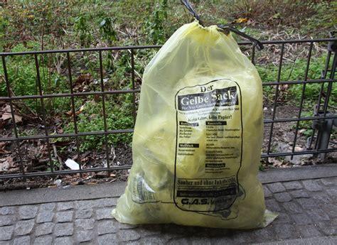 wann werden gelbe säcke abgeholt gelbe s 228 cke werden auf den recyclingh 246 fen nicht mehr