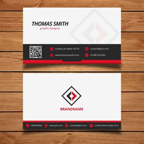 Business Card Template Grey by Black And Modern Business Card Template Vector Free