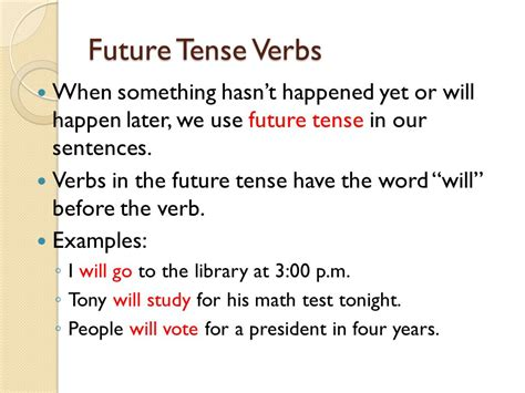future perfect tense sentence pattern past present and future ppt video online download
