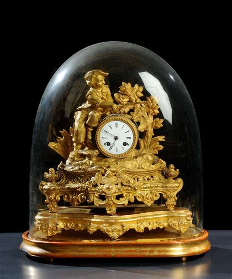 orologio da tavolo antico orologio da tavolo in antimonio dorato xix secolo