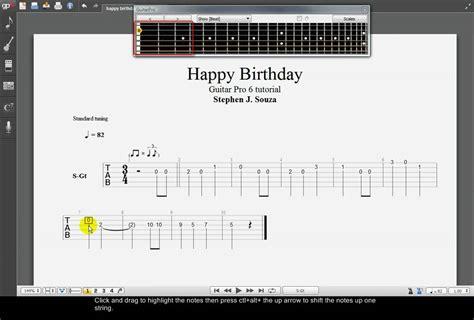 tutorial guitar happy birthday guitar pro 6 tutorial happy birthday youtube