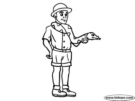 coloring page of a zookeeper zoo keeper coloring page trace on large piece of