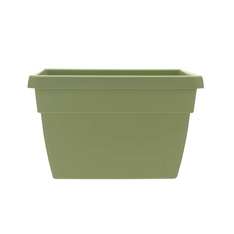 Fence Planters Home Depot by Southern Patio Newbury 12 In X 15 75 In Lotus Green Poly