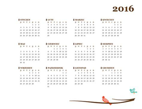 kalendarz excel 2016 kalendarz na 2016 r office templates