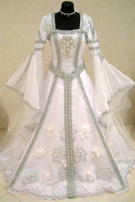 medieval themed wedding gown bridal gowns faerieelvish